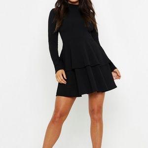 Boohoo Crepe mini Skater dress